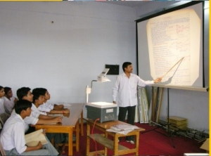 Modern Indian classroom