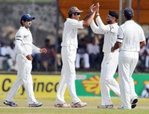 Harbhajan Celebrates after a wicket