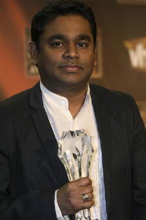 AR Rahman with the Golden Globe
