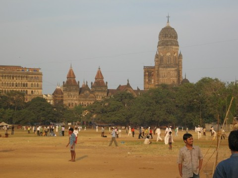 A typical cricket maidan where kids in India spend their weekend mornings playing cricket