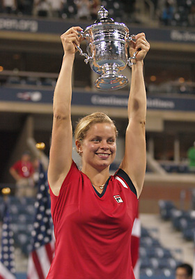 Kim Clijsters claimed the Women's crown on her comeback