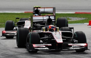 Karun Chandhok lead HRT finishes over the weekend at Sepang